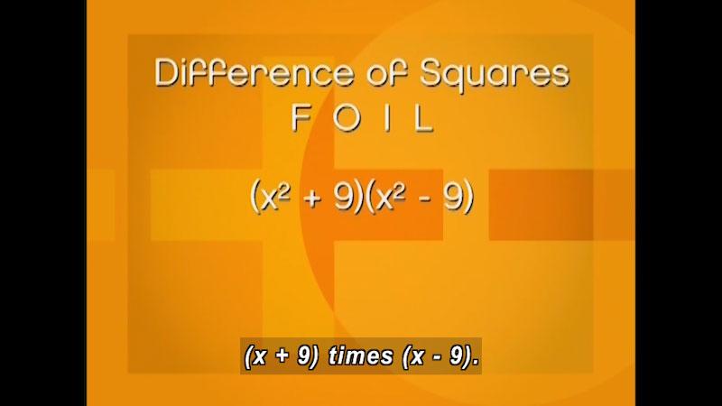 Still image from: Algebra (Program 6)