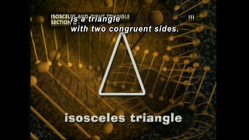 Still image from: Standard Deviants: The Many-Sided World of Geometry (Program 4)