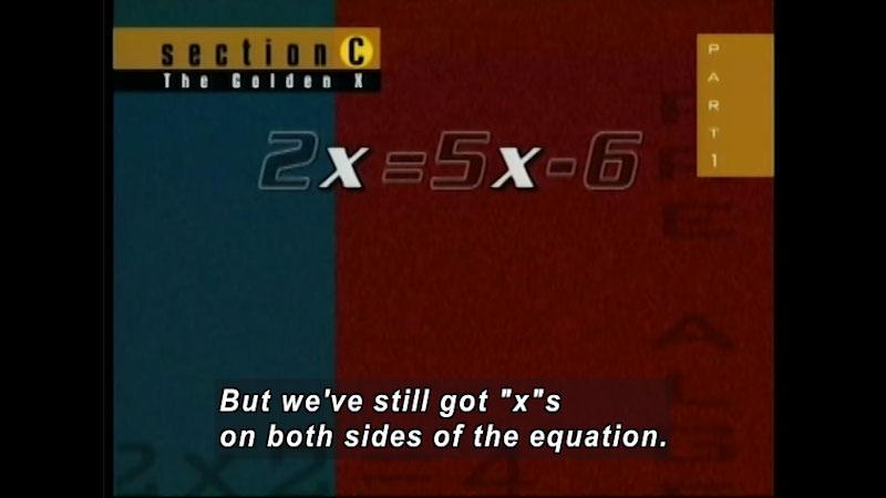 Still image from: Standard Deviants: Pre-Algebra (Program 5)