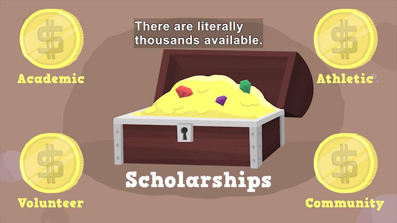 Still image from: Applying for Scholarships