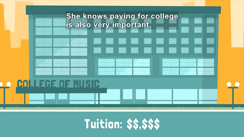 Still image from: Preparing for the Cost of College