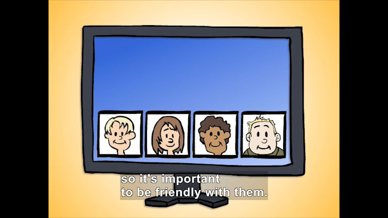 Still image from: Be Kind Online!
