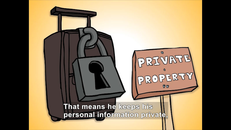 Still image from: What Is Personal Information? (Intermediate Grades)