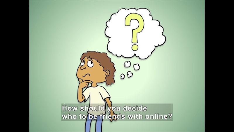 "Still image from: Understanding Online ""Friends"""