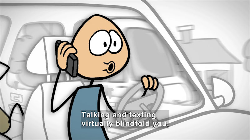 Still image from: Distracted Driving