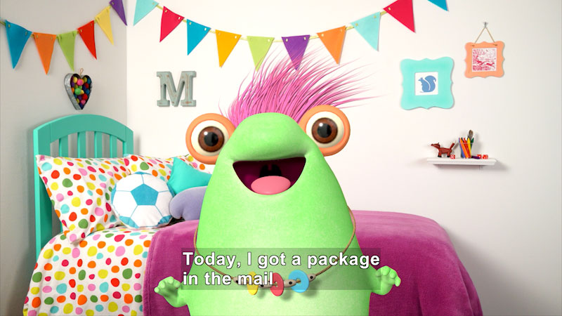 Still image from: Marvie's Sister Sent a Package!
