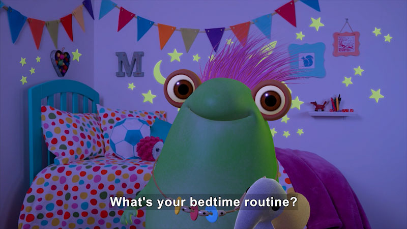 Still image from Marvie's Bedtime Routine