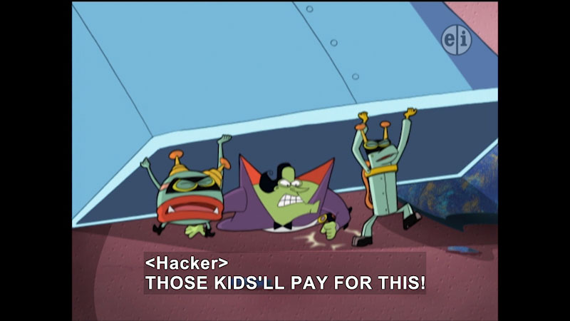 Still image from: Cyberchase: Fortress of Attitude
