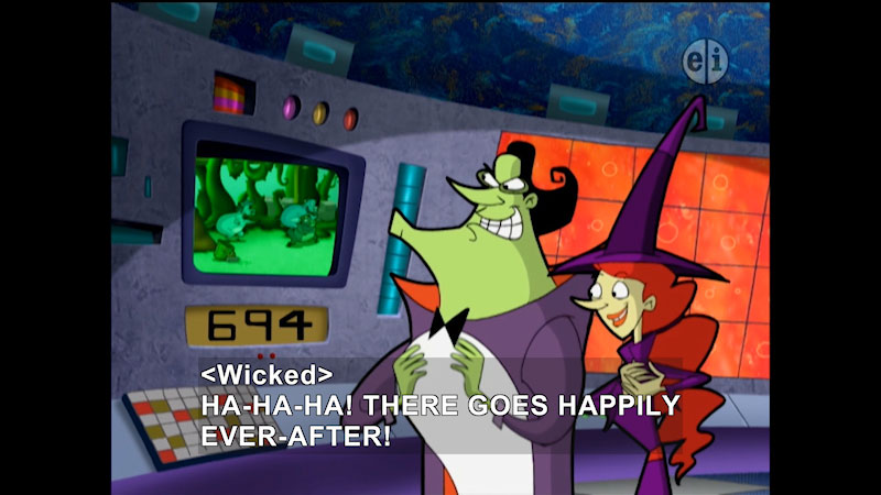 Still image from: Cyberchase: Harriet Hippo & The Mean Green