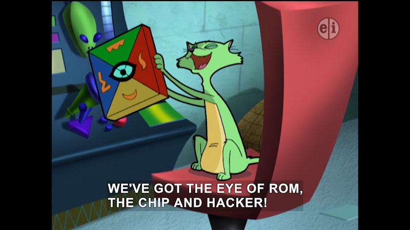 Still image from Cyberchase: The Eye of Rom