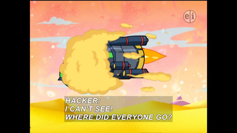 Still image from: Cyberchase: The Grapes of Plath