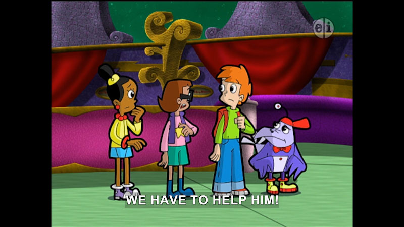 Still image from Cyberchase: A Crinkle in Time