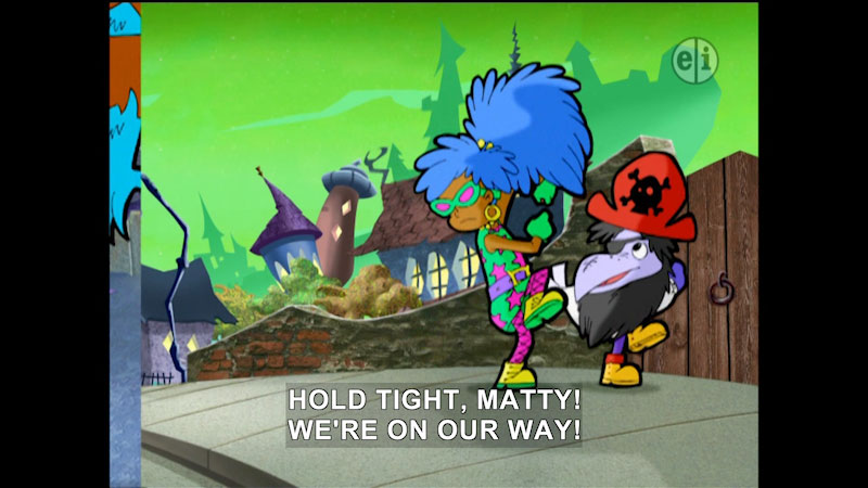 Still image from Cyberchase: The Halloween Howl