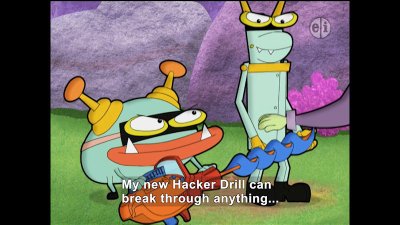 Still image from Cyberchase: Unhappily Ever After