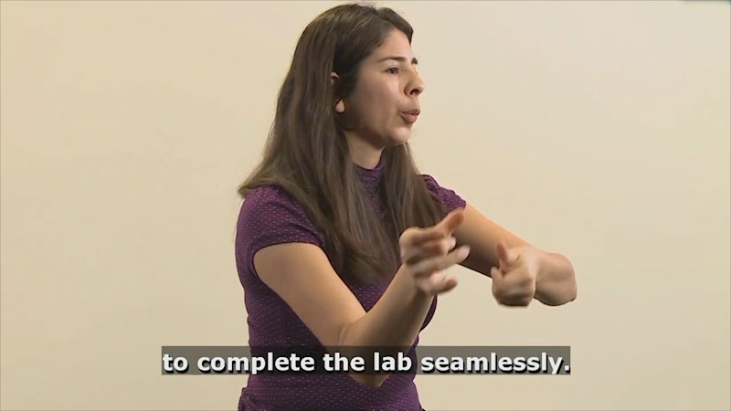 Still image from Teaching & Learning: Teaching (Directions for Lab)