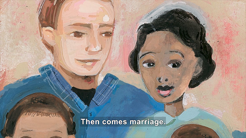 Still image from: The Case for Loving: The Fight for Interracial Marriage