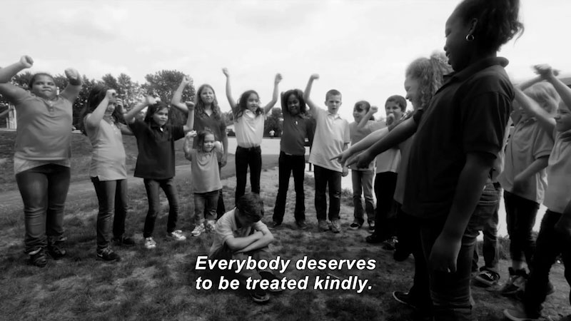 Still image from: Antidote to Bullying: Kindness and Respect