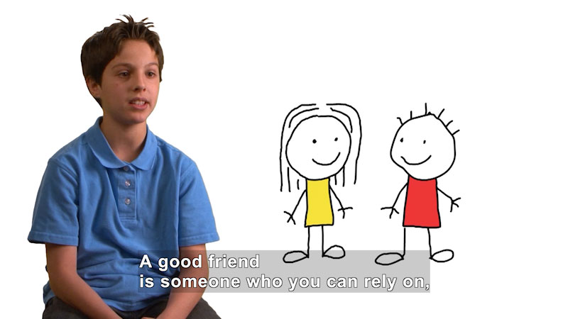 Still image from: What Does It Mean to Be a Good Friend?
