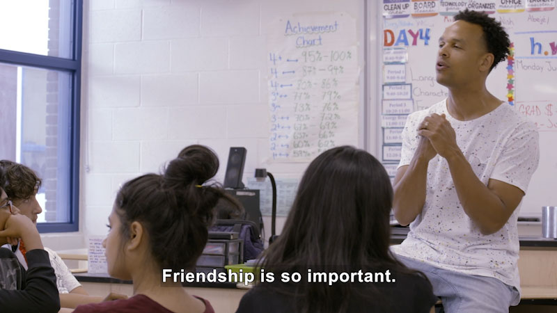 Still image from: Making School a Positive Place: Friendship Matters