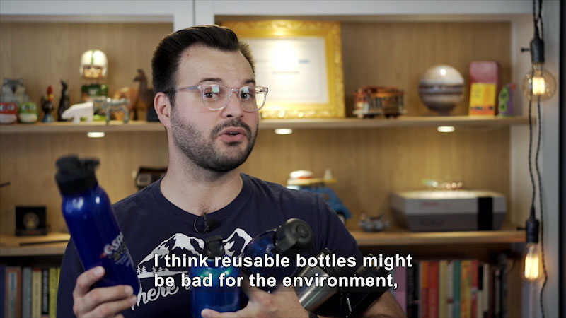 Still image from Uno Dos of Trace: Are Reusable Water Bottles Actually Bad for Us?