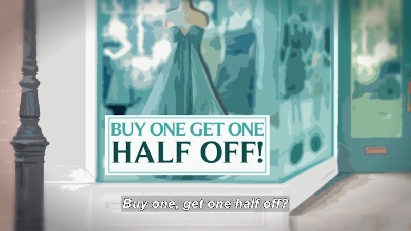 Still image from: Math Mess: The Downtown Sale