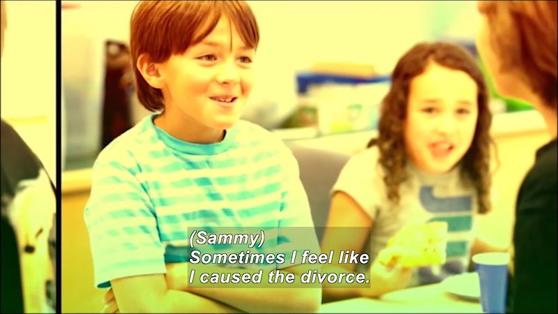 Still image from: Children and Divorce: Children Teaching Children About Divorce (Volume 1--The Experience and Feelings)