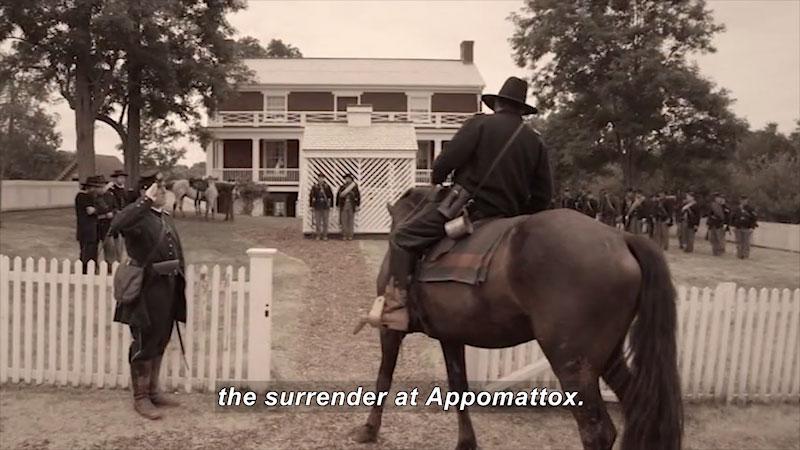 Still image from: Appomattox With Malice Toward None