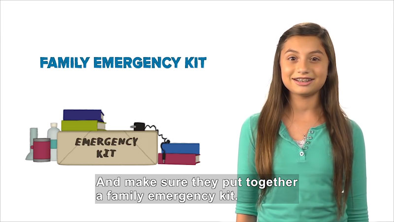 Still image from: Disaster Dodgers: Family Communications Plan and Emergency Kit
