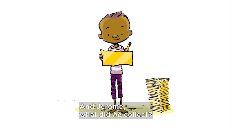 Still image from: The Word Collector