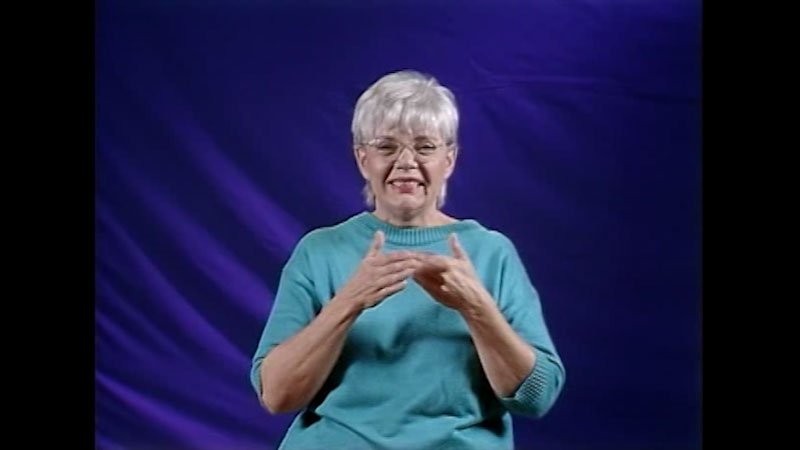 Still image from Advanced American Sign Language Series: Video #4 Affect in American Sign Language