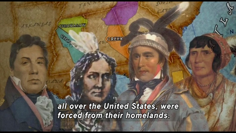 Still image from: Trail of Tears