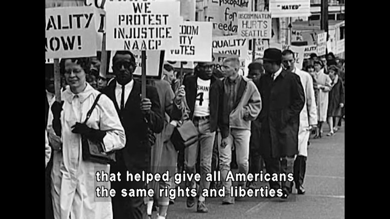 Still image from: Standing Up for Freedom: The Civil Rights Movement in America