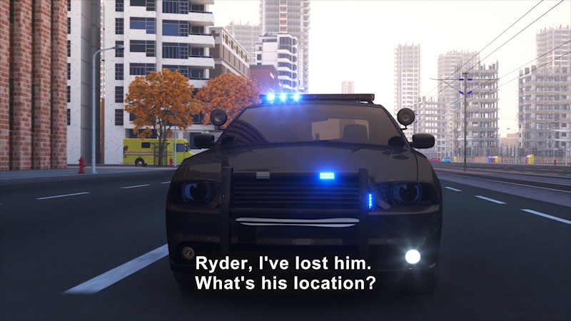 Still image from: Real City Heroes: Sergeant Cooper the Police Car--Time Officer (Part 1)