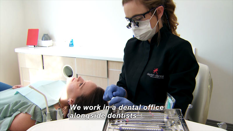 Still image from: I Can Be Anything I Want to Be A to Z: Dental Hygienist