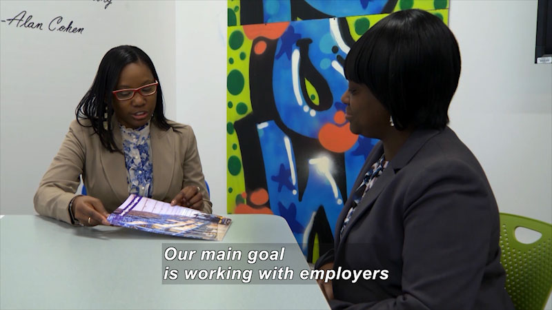 Still image from: I Can Be Anything I Want to Be A to Z: Workforce Development Specialist
