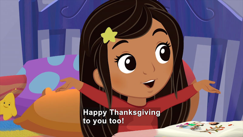Still image from Nina's World: Nina the Babysitter/Nina's Thanksgiving