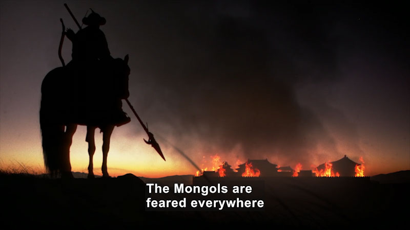 Still image from: Butterfly Effect: Genghis Khan--The Empire of the Steppes