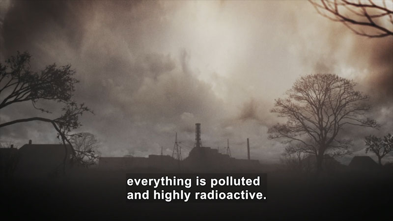 Still image from: Butterfly Effect: Chernobyl--A Reactor Out of Control