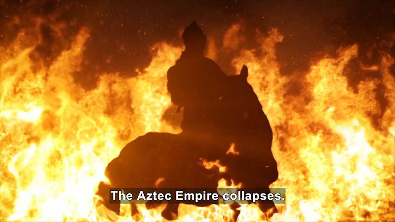 Still image from: Butterfly Effect: Cortés at the Heart of the Aztec Empire