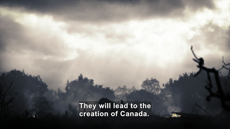 Still image from: Butterfly Effect: The Fall of Quebec--France Loses America