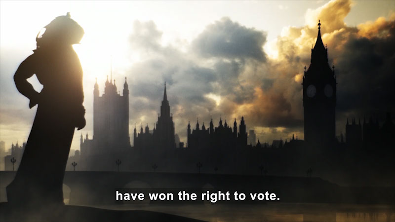 Still image from: Butterfly Effect: The Suffragettes--The Battle for the Ballot Box