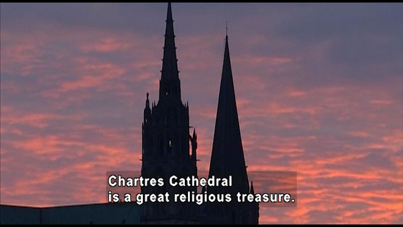 Still image from: Around the World: Europe--Chartres Cathedral