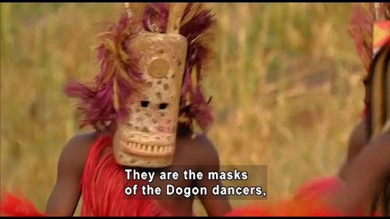 Still image from: Around the World: Africa--Dogon Masks