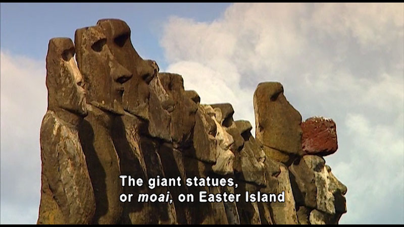 Still image from: Around the World: South America--Easter Island