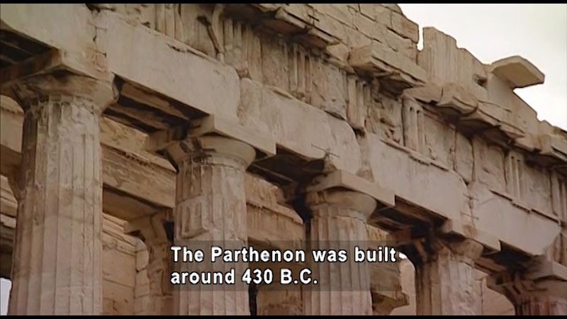 Still image from: Around the World: Europe--The Parthenon
