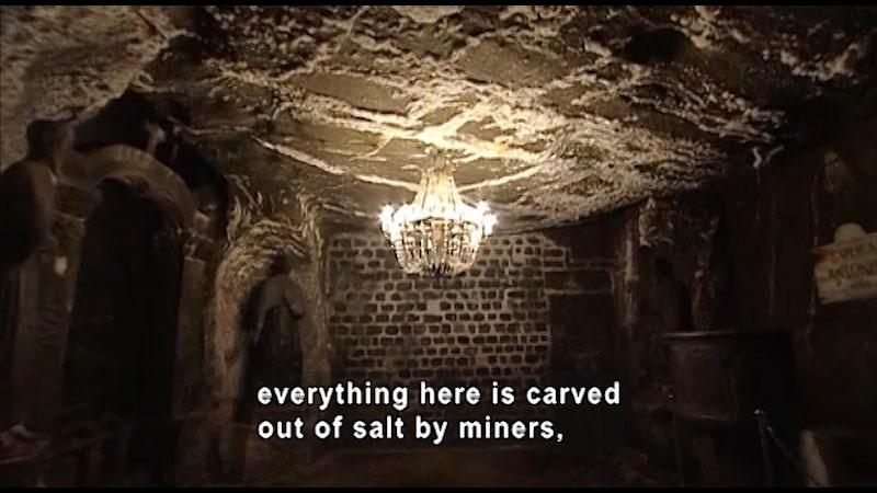 Still image from: Around the World: Europe--Wieliczka Salt Mines