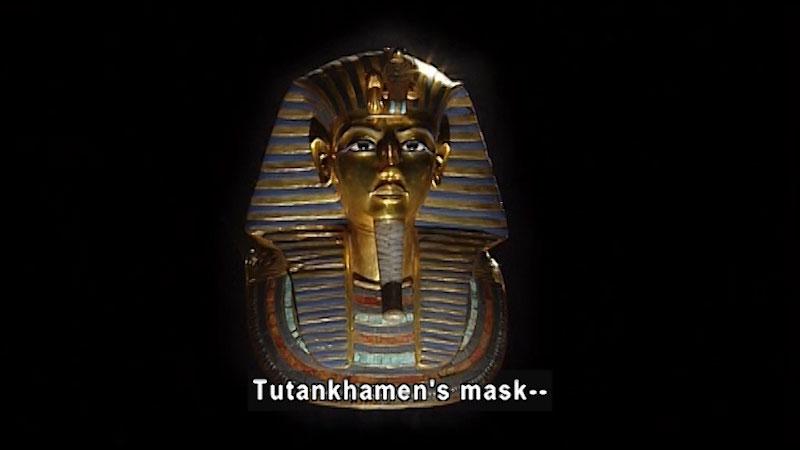 Still image from: Around the World: Africa--Death Mask of Tutankhamen