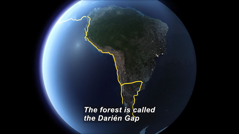 Still image from Mapping the Darién Gap