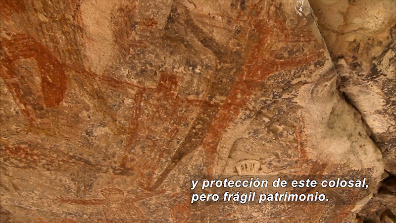 Still image from Cave Painting: San Borjitas and Piedras Pintas (Spanish)
