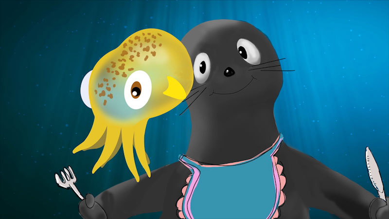 Still image from I Contain Multitudes: Nature's Cutest Symbiosis--The Bobtail Squid